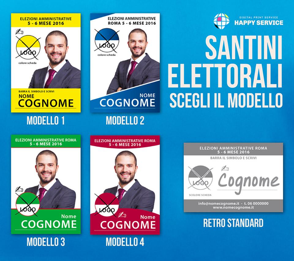 santini elettorali modello HS