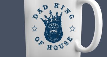 Tazza Festa del papà - Dad King